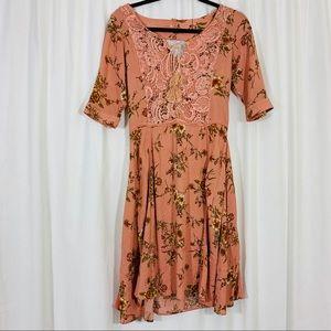Joyfolie   Mia Joy Floral Lace Tassel Dress   B84